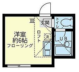 神奈川県川崎市川崎区塩浜3丁目の賃貸アパートの間取り