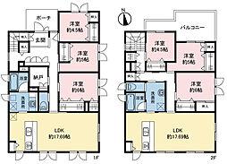 屯田2条3丁目二世帯住宅 6SLDKの間取り