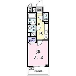 東京メトロ丸ノ内線 東高円寺駅 徒歩12分の賃貸マンション 3階1Kの間取り