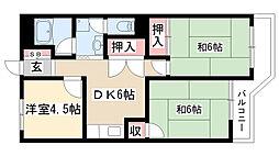 愛知県名古屋市瑞穂区中根町2の賃貸マンションの間取り