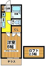 東京都杉並区下高井戸3丁目の賃貸アパートの間取り