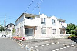 京都府八幡市橋本向山の賃貸アパートの外観