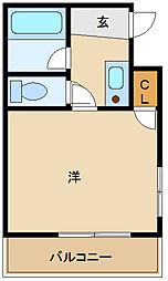 シャルマンフジ出屋敷壱番館[2階]の間取り