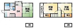 [テラスハウス] 千葉県長生郡白子町北日当 の賃貸【/】の間取り