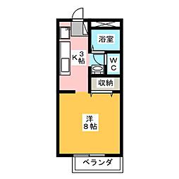 Cafeteria Wake I[2階]の間取り