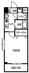 福岡県北九州市小倉南区若園3丁目の賃貸マンションの間取り