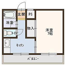 トレビアン花田[2階]の間取り