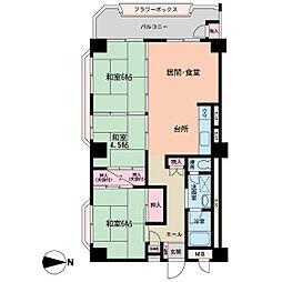 京成サンコーポ勝田台D棟[401号室]の間取り