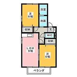 CosmosII[1階]の間取り
