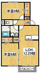 セントアンドリュースA棟[1階]の間取り