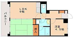 ベレーザマンション南福岡[3階]の間取り