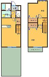 [テラスハウス] 東京都八王子市元八王子町2丁目 の賃貸【東京都 / 八王子市】の間取り