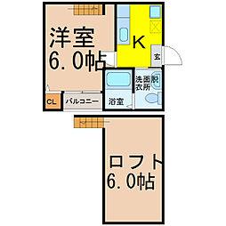 エスポワール桜本町(エスポワールサクラホンマチ)[2階]の間取り