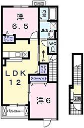 アストーレM[2階]の間取り