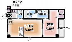 ミサワレジデンス柳田町[2階]の間取り