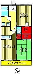 ローズガーデンA[2階]の間取り