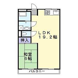 兵庫県姫路市安田3丁目の賃貸マンションの間取り