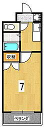 小林マンション[107号室]の間取り