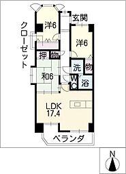 ラルゴ白壁[7階]の間取り
