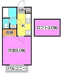 エスパーダ石神井公園 弐番館[2階]の間取り