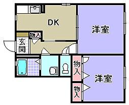 エスポワール A棟[A103号室]の間取り