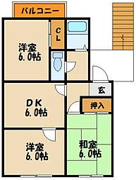 [タウンハウス] 兵庫県神戸市西区王塚台5丁目 の賃貸【兵庫県 / 神戸市西区】の間取り
