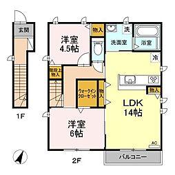 (仮称)D-room丸根町[2階]の間取り