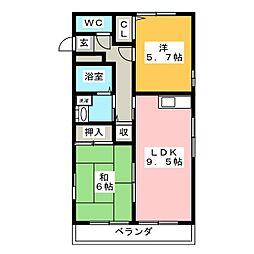 レトアD棟[1階]の間取り