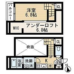フローラ桜ヶ丘[2階]の間取り