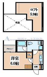 レーヴ林寺[1階]の間取り