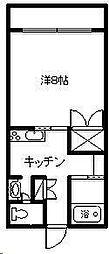 シーサイドコーポ D棟[205号室]の間取り