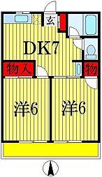 シティハイム カツヤマ[1階]の間取り