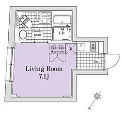 EXAM代々木 3階ワンルームの間取り