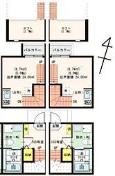 [テラスハウス] 千葉県柏市今谷上町 の賃貸【/】の間取り