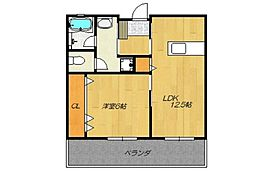 沖縄県豊見城市長堂141番地の賃貸アパート 3階1LDKの間取り