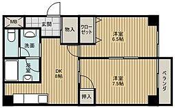 ヤマグチマンション[6階]の間取り