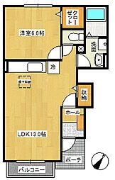 パールウイング5[2階]の間取り