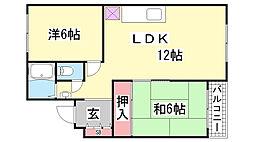 シャンボール鈴蘭[2階]の間取り