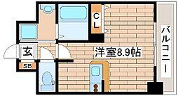 兵庫県神戸市中央区宮本通7丁目の賃貸マンションの間取り