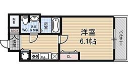 アクロス福島アーバンヒルズ 11階1Kの間取り
