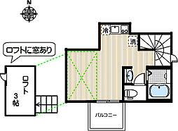 Opus One西荻 3階ワンルームの間取り