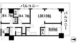 エンゼルハイムパークステージ弐番館[3階]の間取り
