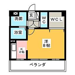 ソレイユ勝川[2階]の間取り