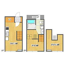 Calico-House 1[116号室]の間取り