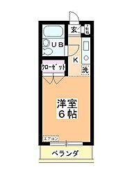 ステーションヴィラ鶴ヶ島[407号室]の間取り