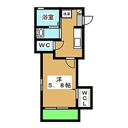 神奈川区白楽シャーメゾン(仮) 1階1Kの間取り