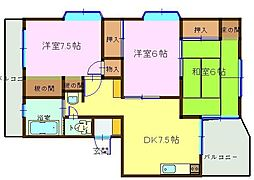 飯山マンション[401号室]の間取り