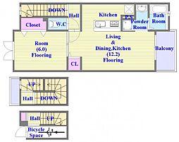 グレイスヒル垂水[3階]の間取り
