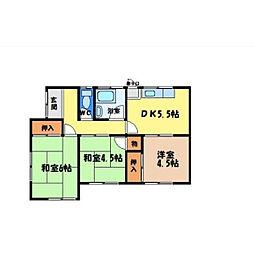 [一戸建] 徳島県徳島市八万町 の賃貸【/】の間取り