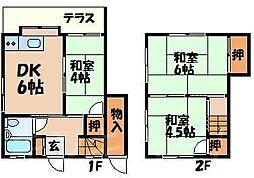 [テラスハウス] 広島県安芸郡海田町寺迫2丁目 の賃貸【/】の間取り